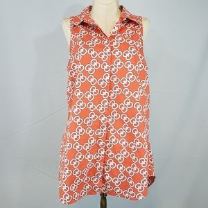 Crown & Ivy sleeveless cotton top size Medium